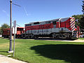2014-09-26 13 45 27 Western Pacific engine and caboose at Railroad Park in Elko, Nevada.JPG