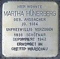 2015-11-21 Neustadt am Rübenberge Stolperstein Hünerberg Martha (cropped).jpg