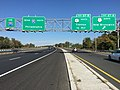 2017-10-06 10 17 06 View north at the north end of Interstate 295 (Camden Freeway) and south at the north end of Interstate 95 at Exit 67A (U.S. Route 1 North, New Brunswick) in Lawrence Township, Mercer County, New Jersey.jpg