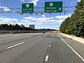 2018-10-24 13 09 43 View west along Virginia State Route 267 (Dulles Toll Road) at Exit 10 (Virginia State Route 657, Herndon, Chantilly) in McNair, Fairfax County, Virginia.jpg