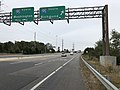 2018-10-26 14 09 05 View south along Virginia State Route 286 (Fairfax County Parkway) at the exit for Interstate 95 SOUTH (Richmond) in Newington, Fairfax County, Virginia.jpg