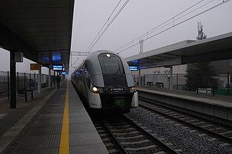 Warszawa Młynów railway station - Image: 2018 12 08 Warszawa Młynów KM