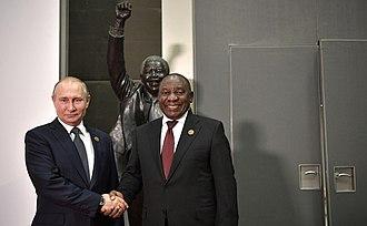 Cyril Ramaphosa - Ramaphosa with Vladimir Putin, president of Russia