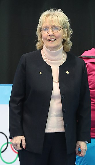 Kate Caithness, current president of the World Curling Federation 2020-01-22 Curling at the 2020 Winter Youth Olympics - Mixed Doubles - Victory Ceremony (Martin Rulsch) 016.jpg