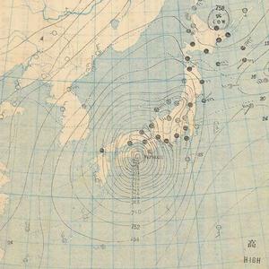 1934 Muroto typhoon - Image: 21,September,1934 Typhoon weather map