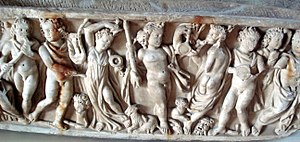 Reincarnation - A 2nd-century Roman sarcophagus shows the mythology and symbolism of the Orphic and Dionysiac Mystery schools. Orpheus plays his lyre to the left