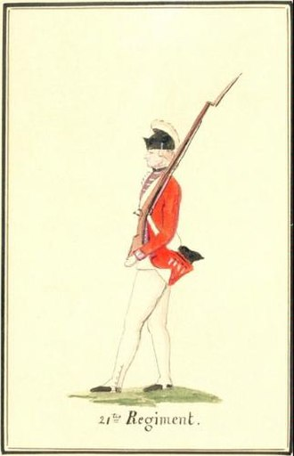 Royal Scots Fusiliers - A soldier from the 21st Foot, Canada, 1777.
