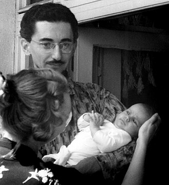 Borislav Pekić - Pekić with his wife Ljiljana holding their daughter in 1959.