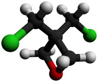 3,3-Bis(chloromethyl)oxetane - Image: 3,3 Bis(chloromethyl)oxe tane 3D balls by AHRLS 2012