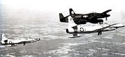 317th FAWS North American F-82F Twin Mustang 46-418 with F-94 Starfires