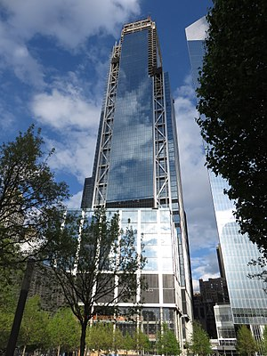 3 World Trade Center - The tower nearing completion in May 2017