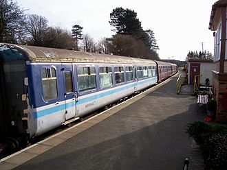 British Railways Mark 2 - Mark 2 coaches 5174, 5132 and 9102 at the Northampton & Lamport Railway on 26 January 2008