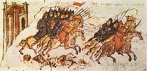 Battle of Versinikia - The battle of Versinikia from the 14th century Bulgarian copy of the Manasses Chronicle.
