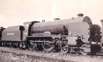 Blundell's School - 932 Blundell's Schools Class 4-4-0 at Eastleigh in 1948.