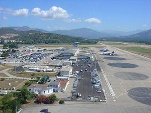 Ajaccio Napoleon Bonaparte Airport - Image: Aéroport Ajaccio Corse