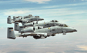 A-10s of the 355th Fighter Wing over Arizona