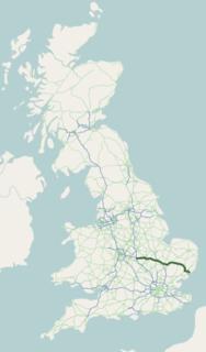 A14 road (England) Major road in England