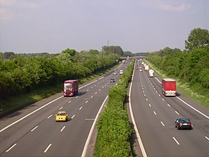 European route E34 - E 34 near Kamen, looking east.