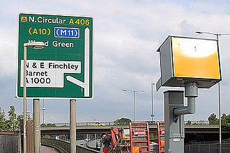 North Circular Road - Since 1951, the North Circular has been subject to speed limits along its route; these are now enforced with speed cameras.