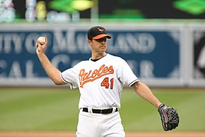 Steve Trachsel - Trachsel pitching for the Orioles on April 20, 2008.