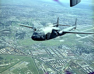AC-119G of 17th SOS over Tan Son Nhut Air Base 1969.jpg
