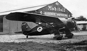 Stinson Model R - Image: AL79 041 Stinson R cn 8510 NC12157 Mobiloil Rouen France May 32 (14307393064)