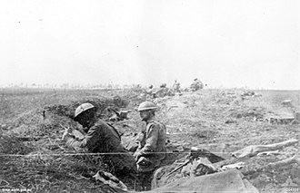 3rd Division (Australia) - 3rd Division troops around Lena Wood, 8 August 1918