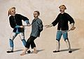 A Chinese prisoner being lead away by two guards Wellcome V0041360.jpg