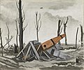 A Crashed Fokker at Villers-bretonneux, France Art.IWMART2665.jpg