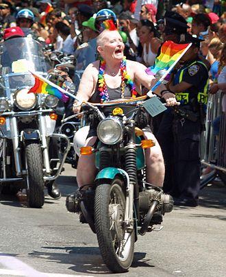 Dyke (slang) - Dykes on Bikes at New York City's 2007 LGBT pride parade.