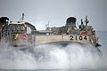 A Japanese Self-Defense Force landing craft, air cushion lands on Red Beach at Marine Corps Base Camp Pendleton, Calif., May 31, 2013, as part of the initial offload for exercise Dawn Blitz 2013 130531-M-QH793-167.jpg