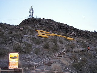 Tempe Butte mountain in United States of America
