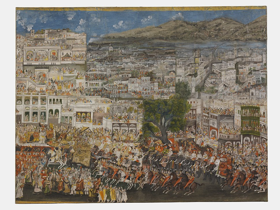 A Procession of Ghazi ud-Din Haider through Lucknow