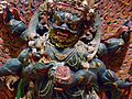 A Tantric form Buddhist wrathful deity with necklace of skulls.jpg