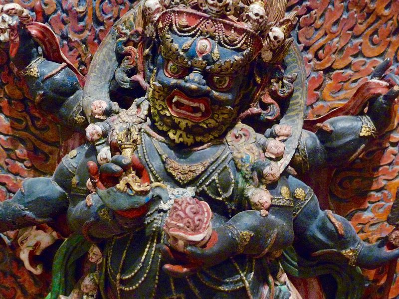 File:A Tantric form Buddhist wrathful deity with necklace of skulls.jpg
