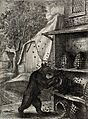 A bear has overturned two hives and is trying to prize out h Wellcome V0023013.jpg