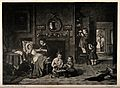 A group of children playing at being doctors and pharmacists Wellcome V0015110.jpg