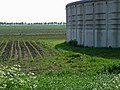 A manure storage silo in the fields near Smilde, Netherlands, spring 2012.jpg