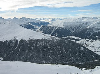 Grison Alps - The Grison Alps seen from Jakobshorn