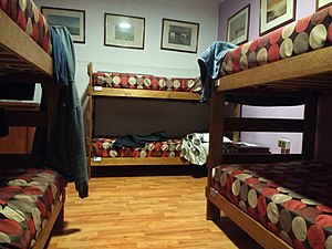 A room at the Hostal Providencia in Santiago.jpg