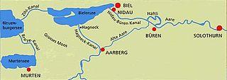 Regulating Dam Port, Seeland, Switzerland
