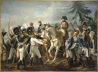 Battle of Abensberg - Napoleon addressing Bavarian troops