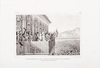 Acclamation de Don Pédro 1er. Empereur du Brésil