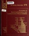 Accuracy in spectrophotometry and luminescence measurements (IA accuracyinspectr378mavr).pdf