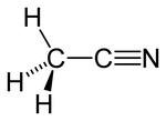 Strukturformel von Acetonitril