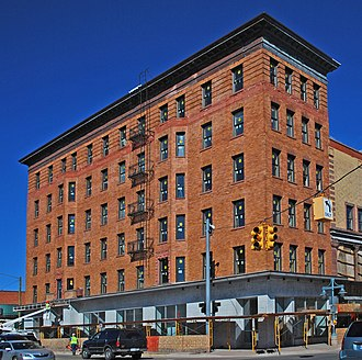 National Register of Historic Places listings in Chippewa County, Michigan - Image: Adams Building Sault Ste Marie MI