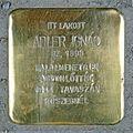Adler Ignác stolperstein (Budapest-05 Október 6 u 11).jpg