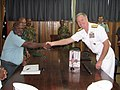 Adm. Walsh and Brig. Gen. Francis Agwi, commander of the Papua New Guinea Defence Force (5889569324).jpg