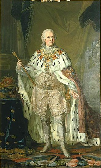Adolf Frederick, King of Sweden - Adolf Frederick in old age as King, by Lorens Pasch the Younger