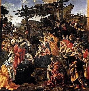 painting by Filippino Lippi in the Uffizi